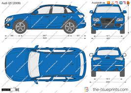 Audi Q5 Blue - the blueprints com vector drawing audi q5