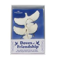 kurt adler turtle dove ornaments gift boxed set of