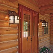 log cabin outdoor lighting rustic log home exterior lights brass light gallery