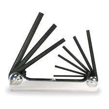 eklind folding hex key set 9 pieces 6x302 20911 grainger