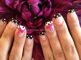 polka dots with 3d acrylic bows nails pinterest acrylics 3d