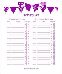 gift list birthday gift list template yspages