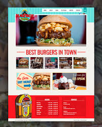 jukebox burgers website design social media food photography