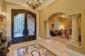 blue gold living room entry mediterranean with living room