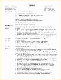 mechanical engineering resume format download elegant sample