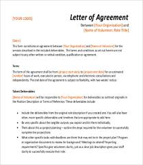 sample agreement letter 8 examples in word pdf
