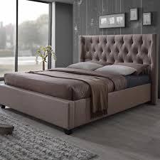 upholstered bed beds u0026 headboards bedroom furniture the home