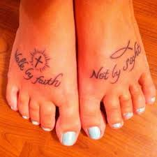 i walk by faith tattoo on inside of foot pictures to pin on
