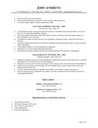Resume Job In Linux by Manager Resume