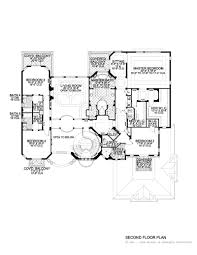 classic mediterranean style waterfront home floor plan 6679 0703