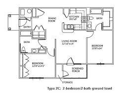 D D Floor Plans 2 Bedroom Floor Plans May River Village