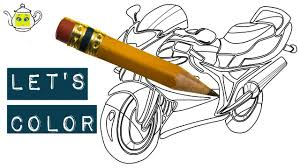 motorcycle coloring page how to colour a motorcycle learn