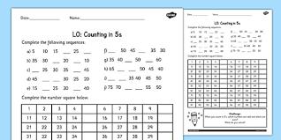 in 5s worksheet counting worksheet 4 numbers math