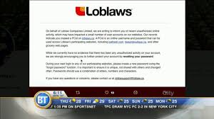 loblaws asks users to reset password after security breach