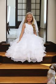 catholic communion dresses lace communion dress with layered organza ruffles catholic