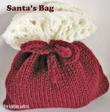 free knitting pattern christmas gift bags