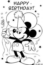 birthday coloring pages boy printable mickey mouse disney happy birthday coloring pages
