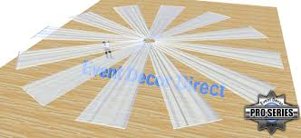 ceiling draping 21ft 12 panel sheer fabric ceiling draping in assorted colors
