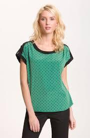 pleione blouse pleione black dot print blouse polka dot black