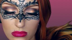 easy face makeup for halloween easy masquerade makeup mask tutorial creative make up halloween