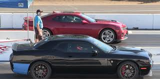 Dodge Challenger With Blower - camaro zl1 catches dodge challenger hellcat off guard in photo