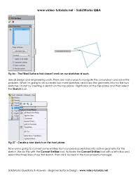 solid works tutorials beginner surface design