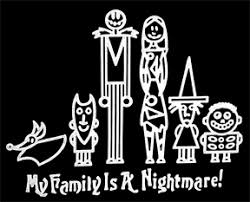 nightmare before stick family window decal car co
