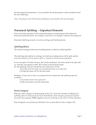 Example Of A Summary On A Resume by New Gl Documentsplitting Guidebook