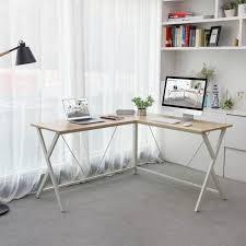 bureau poste de travail songmics bureau informatique table d angle bureau poste de travail