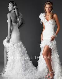 wedding dress short in front with long train google search
