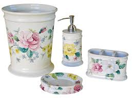 Pink Bathroom Accessories Sets hand painted porcelain bathroom accessories decorated bathroom blog