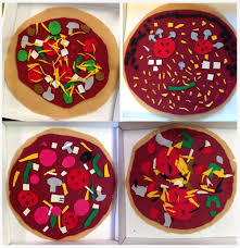 felt pizza art projects for kids