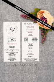 wedding programs cheap program wedding printable diy wedding template program template