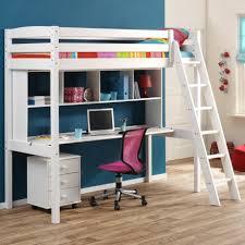 lit surélevé avec bureau lit mezzanine enfant avec bureau focus sur le en hauteur ou roi du