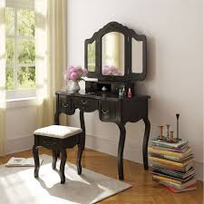 Makeup Vanity Table With Drawers Alcott Hill Hoytville Multifunction Makeup Vanity Set With Mirror