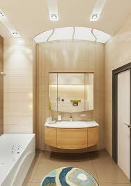 Small Bathroom Design Ideas Color Schemes Small Bathroom Design In Beige And Brown Color Scheme