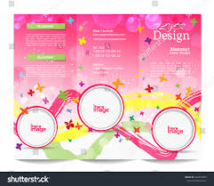 trifold brochure templatefestive background cover design stock