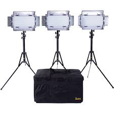led studio lighting kit ikan ib508 v2 bi color led 3 light studio kit ib508 v2 kit b h