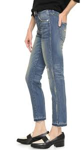 amo high rise cropped slim jeans shopbop
