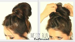 easy messy buns for shoulder length hair big messy bun braid tutorial cute school hairstyles for