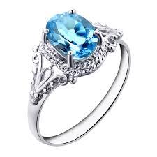 blue gem rings images Natural topaz stone ring blue topaz square gem female ring finger jpg