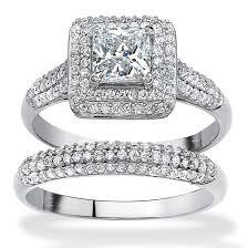 princess cut cubic zirconia wedding sets wedding rings cubic zirconia white gold wedding sets birkat