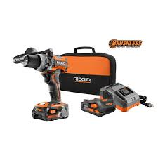 home depot black friday tool bag with wheels deals 2017 ridgid brushless compact hammer drill w 2 batteries charger and
