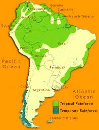 south america map rainforest south america