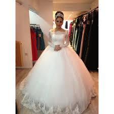 poofy wedding dresses aliexpress buy vestido de noiva the shoulder lace