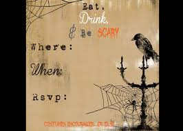 Halloween Party Invites Printable 8 best images of scary halloween party invitations printable