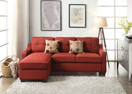Sectional Sofa With Ottoman Ottoman Mesmerizing Red Ottoman Ii Linen Sectional Sofa With