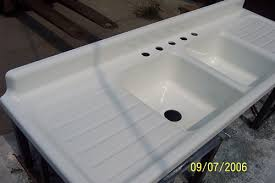 Real Porcelain Enamel Coating To Restore Your Drainboard Sink Tub - Old fashioned kitchen sinks