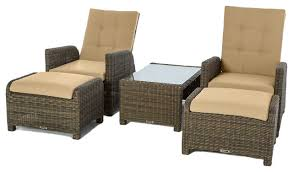 Wicker Reclining Patio Chair Reclining Outdoor Lounge Chair Fiji Brown Wicker Reclining