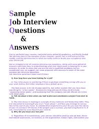 most questions in job interview template sample interview questions and answers